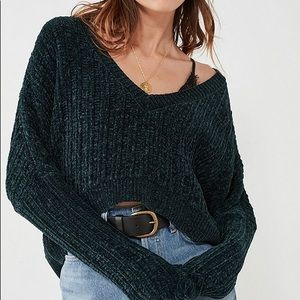 Sweaters - UO Slouchy Chenille Cropped Sweater